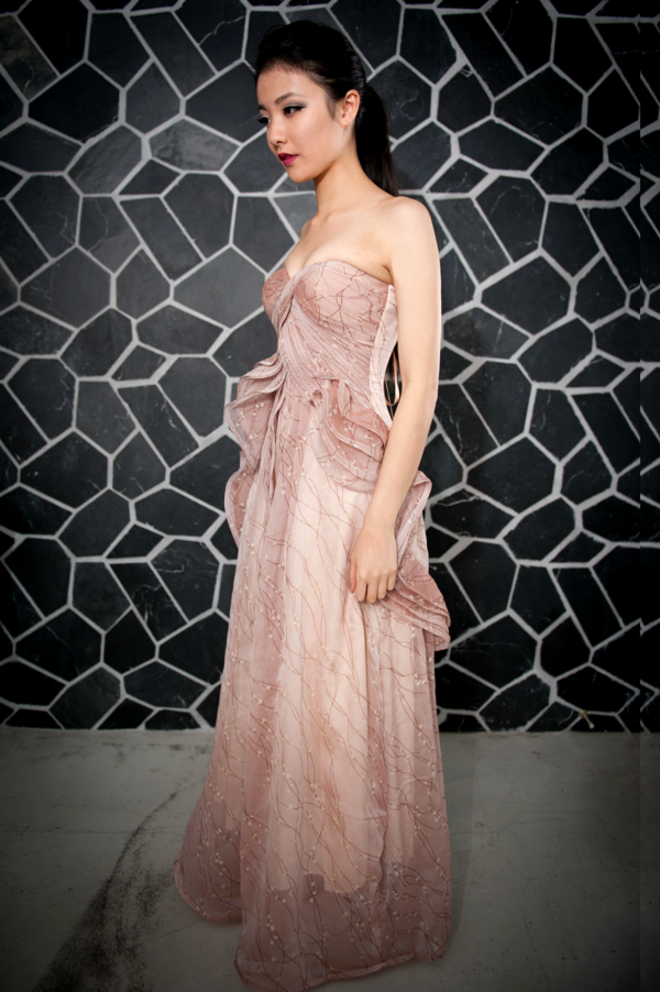 Image of Long Pink Ice Cream Evening Gown   2015 Prom Dresses ...