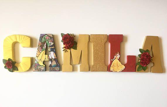 Pin en letras de madera