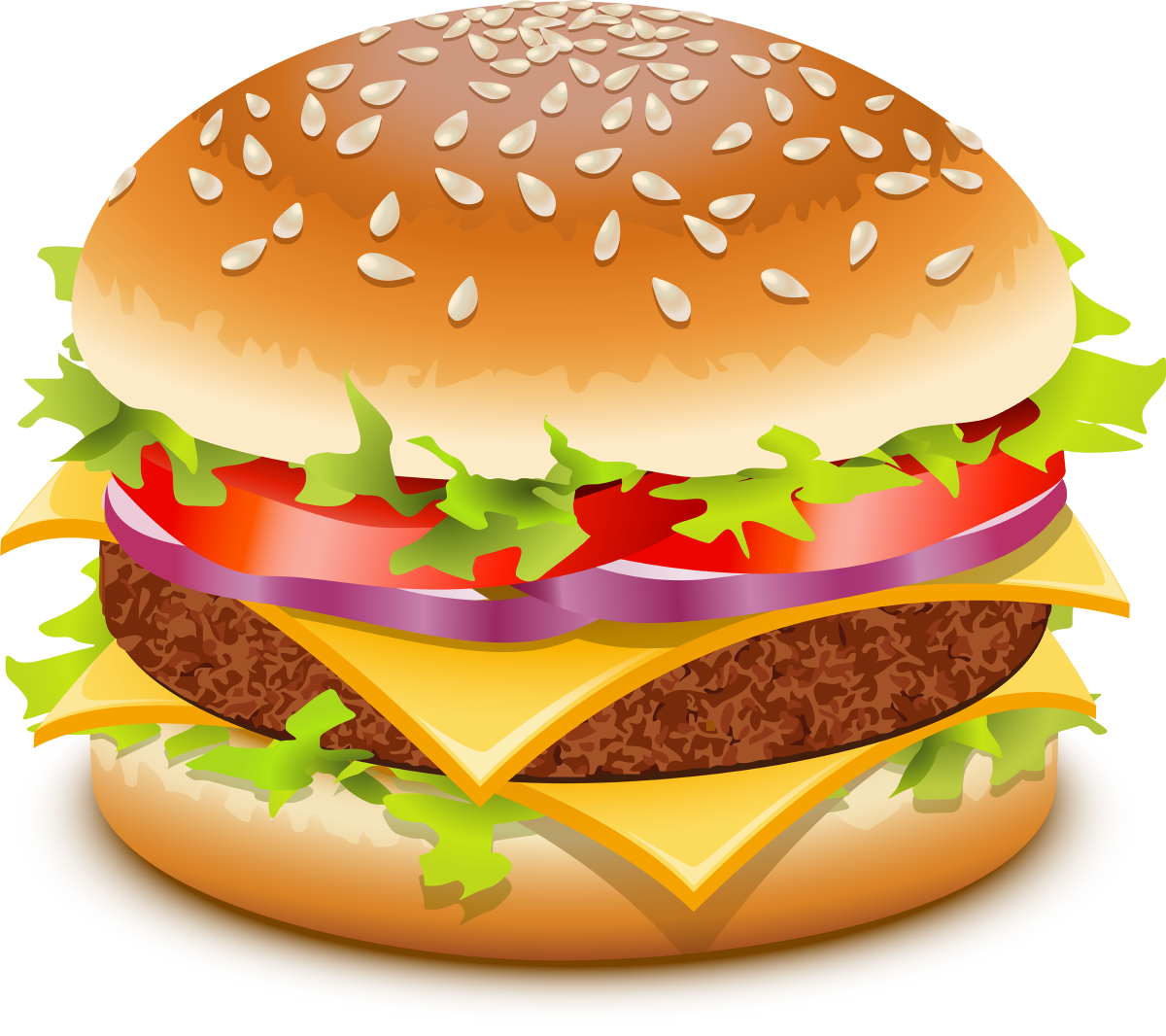 All Info About Delicious Fast Food Burger Vector Burger Food Clipart