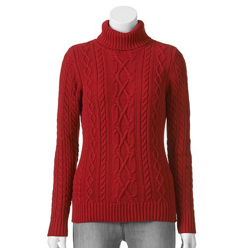 Croft & Barrow® Cable-Knit Turtleneck Sweater - Women's | My Style ...