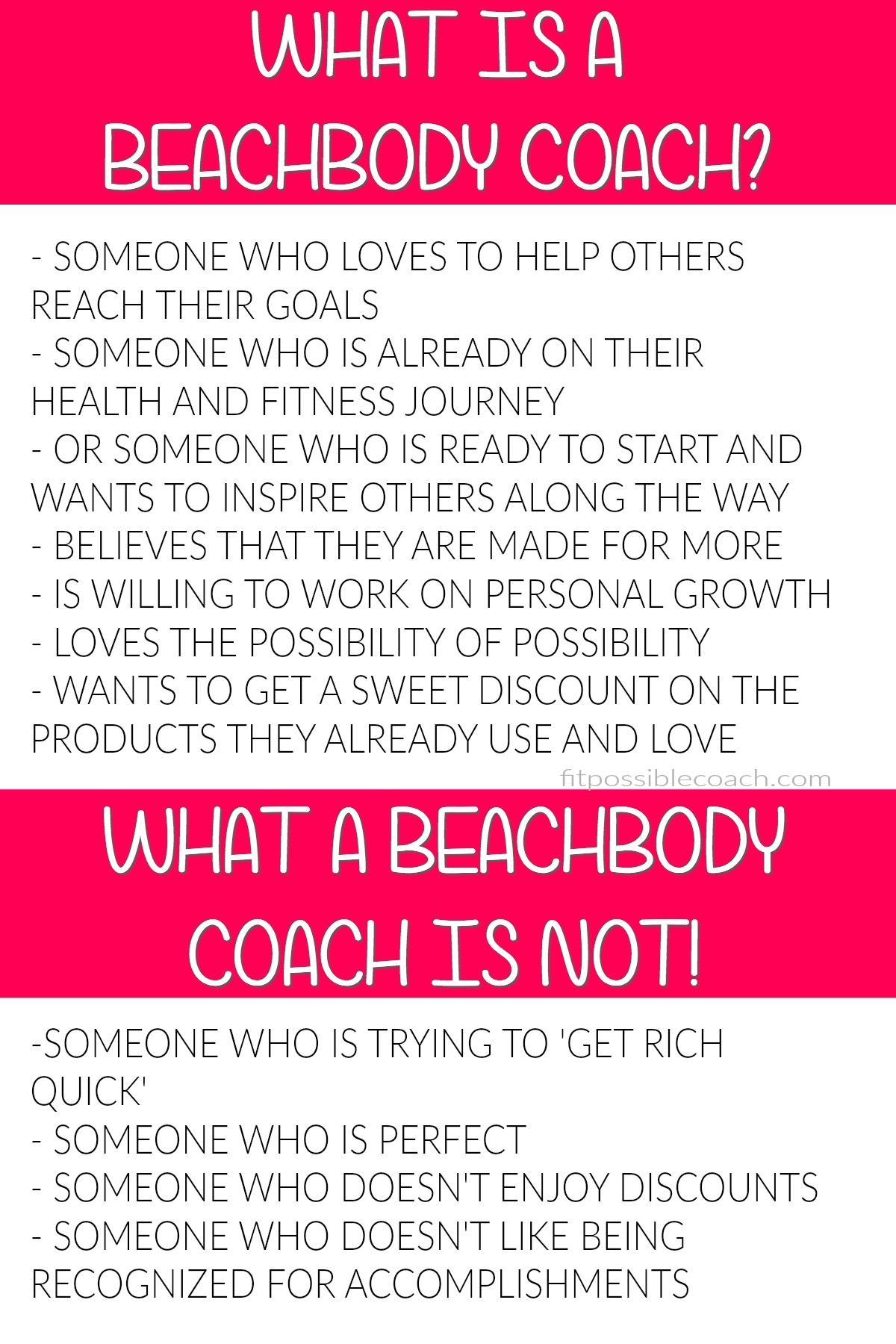 a Beachbody Coach Beachbody coach, Team beachbody