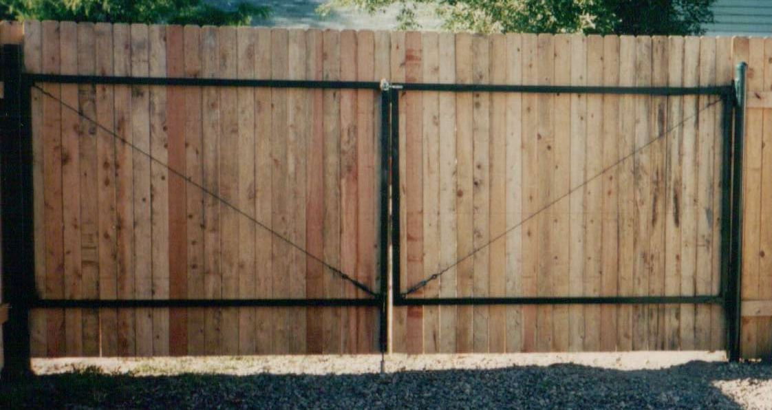 Dog Eared Cedar Double Drive Gate Built And Installed By