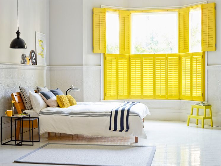 Beach Style Bedroom by California Shutters. #LoveColour