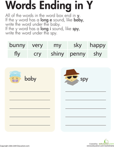 Vowel Sounds Y As Long Grade 2 Literacy Pinterest Vowel