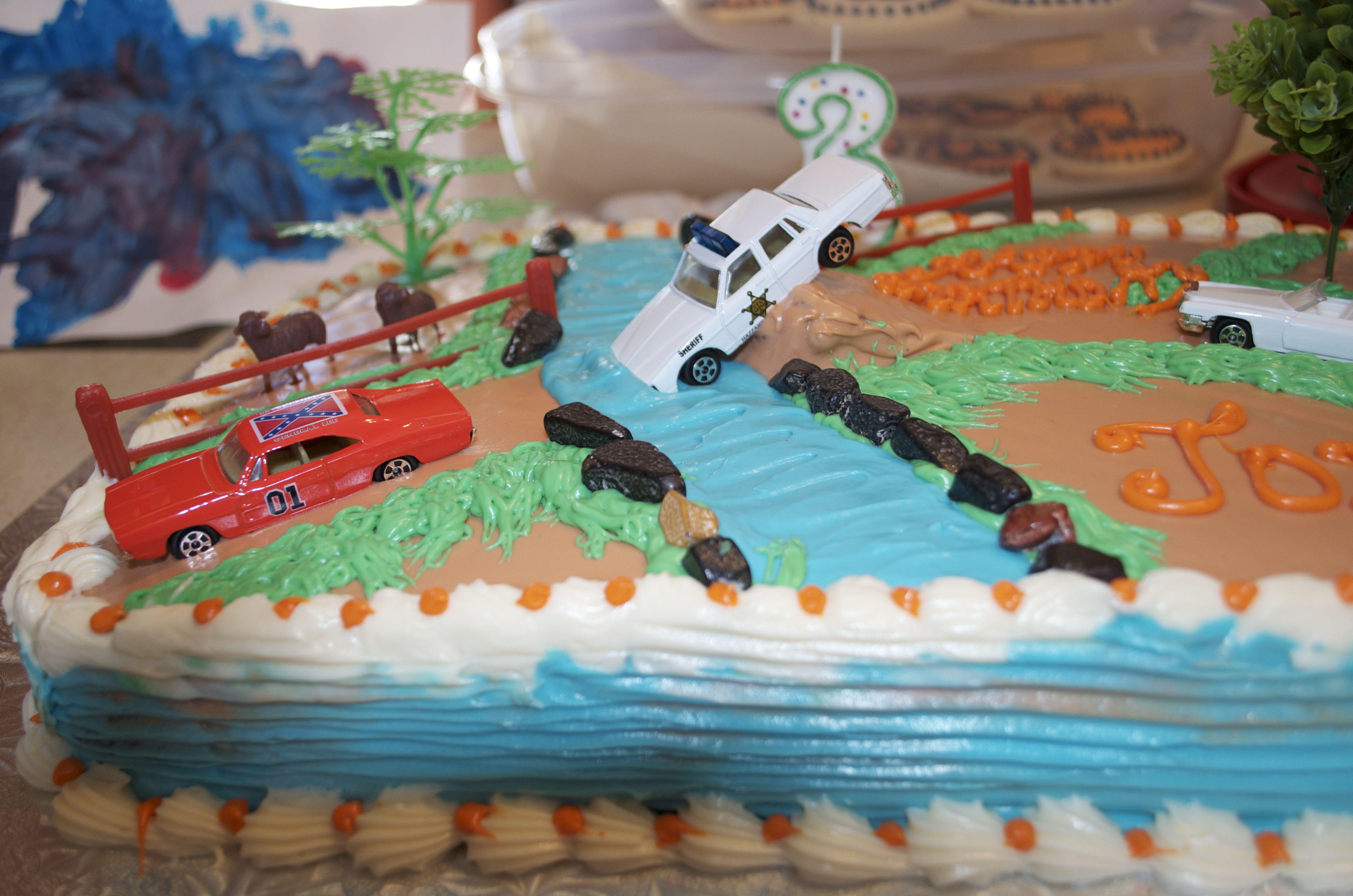 Magnificent Dukes Of Hazzard Cake Adult Birthday Cakes Boy Birthday Cake Personalised Birthday Cards Arneslily Jamesorg