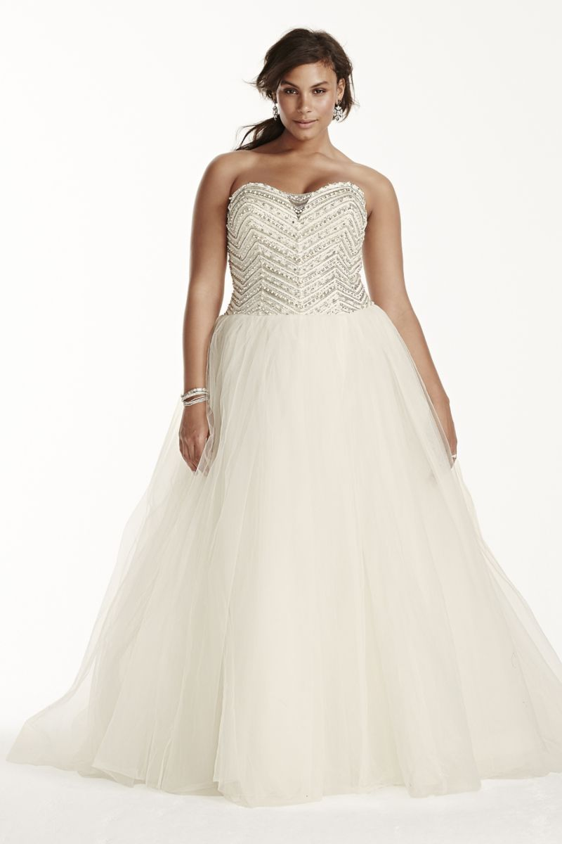 Tulle ball gown with crystal bodice style wg sukienki ślubne