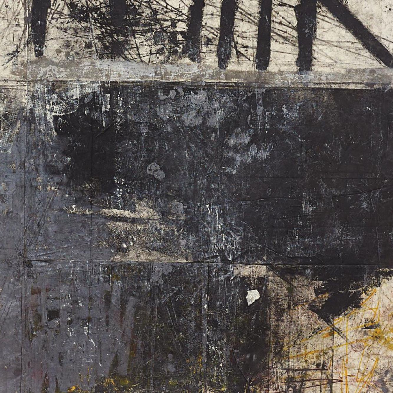 Inspiration: Oscar Murillo, Dark Americano (detail), 2012.