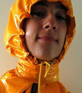 Sexy Shiny Jacket | Best of T: Shiny yellow rain jacket
