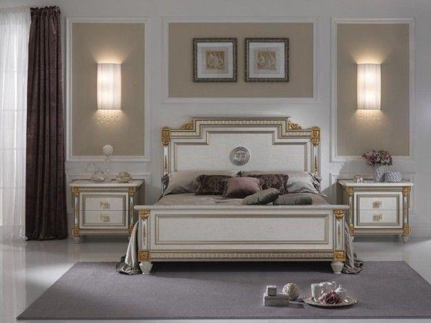 Camera dallo stile prezioso - Una soluzione con dettagli dorati per arredare la camera da letto in stile liberty