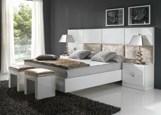 Aro de cama lacado en blanco o negro mod atenea - Muebles arriazu ...