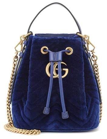 ff71a05d2a1 Gucci GG Marmont velvet bucket bag