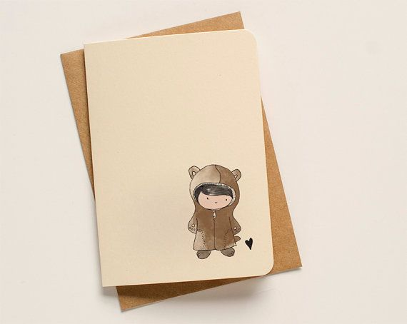 Cute Fluffy Bear Greeting Card