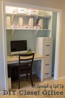 Diy Closet Office Home Office Closet Small Space Office Work