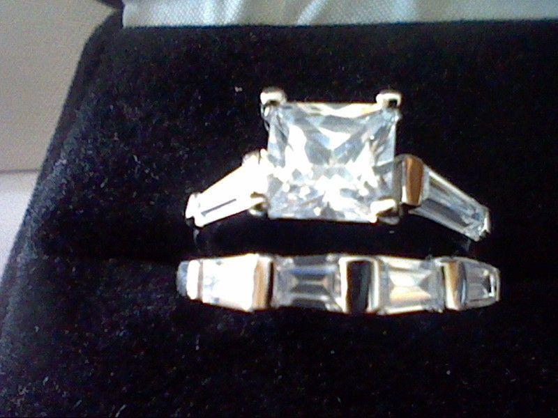 GIFT 2.50CTW  ROUND /& BAGUETTE LCS DIAMOND ENGAGEMENT WEDDING RING SET SZ 6