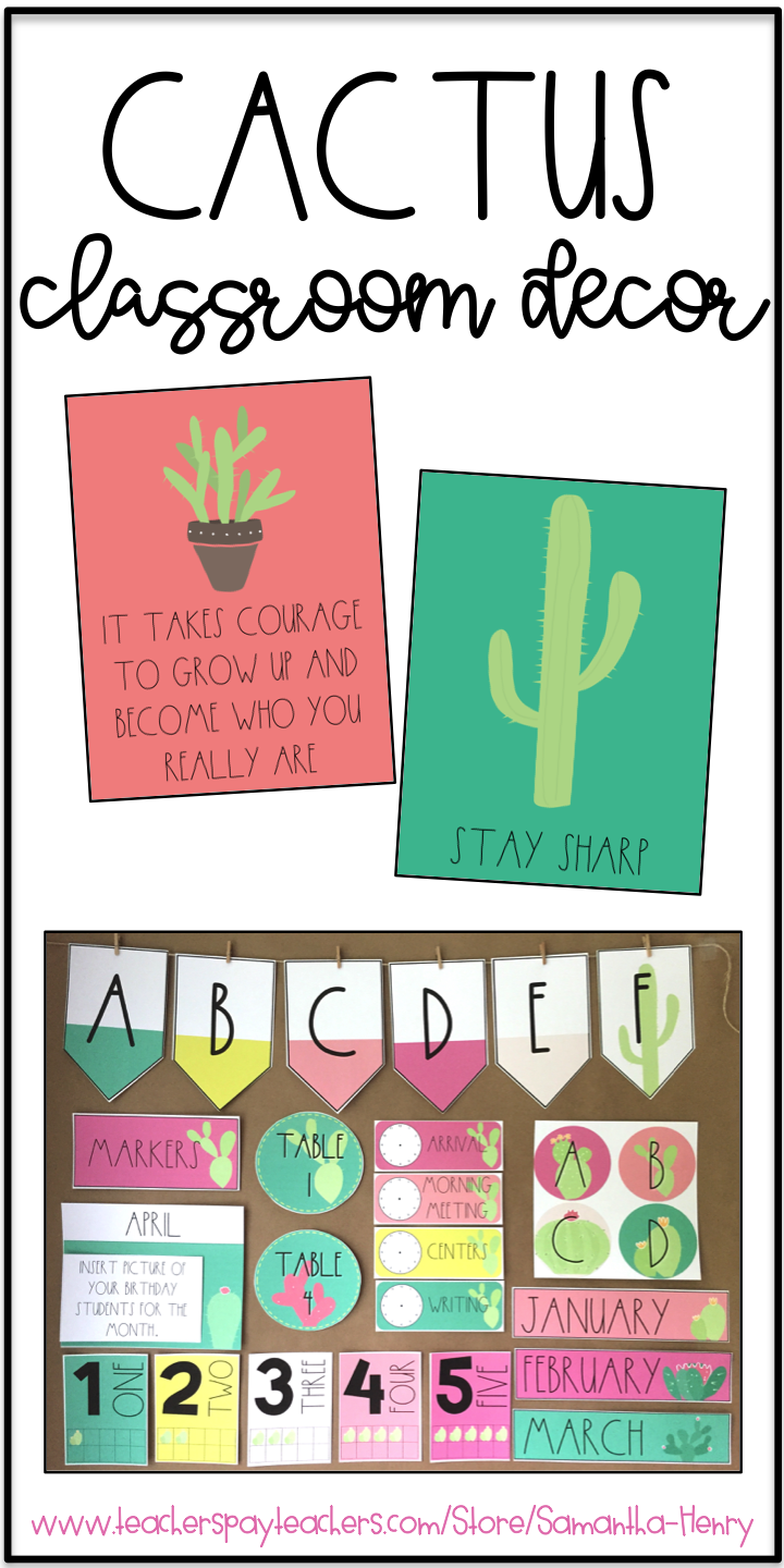 Classroom Decoration Cactus : Are you thinking about a cactus theme in your classroom