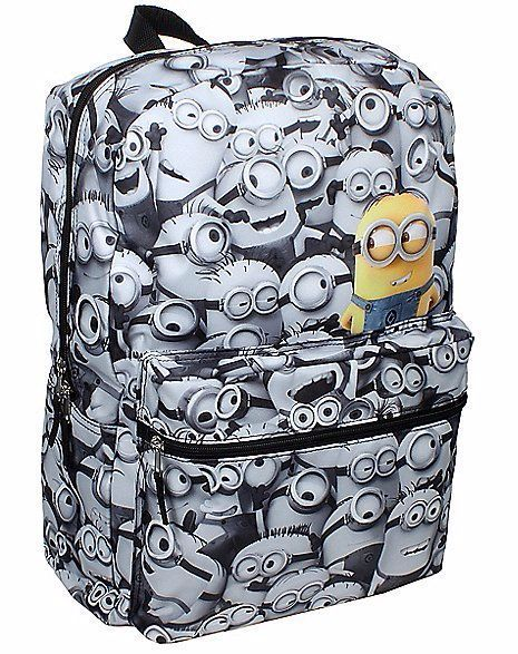 Despicable Me Minions Backpack School Bag COMICS Print   Minions ...