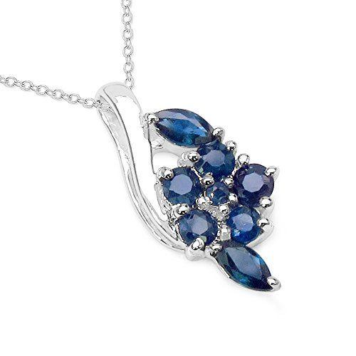 """Silvancé - Women's Pendant Necklace 18"""" - 925 Sterling Silver - Genuine Black Sapphire - P476S Silvancé http://www.amazon.com/dp/B00A9JJ7YC/ref=cm_sw_r_pi_dp_aJNYwb115FE5F"""