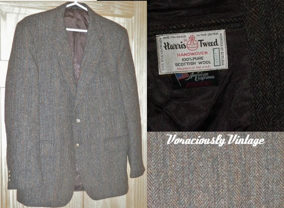NOS Vintage 70's WooL HARRIS TWEED Sport by VoraciouslyVintage