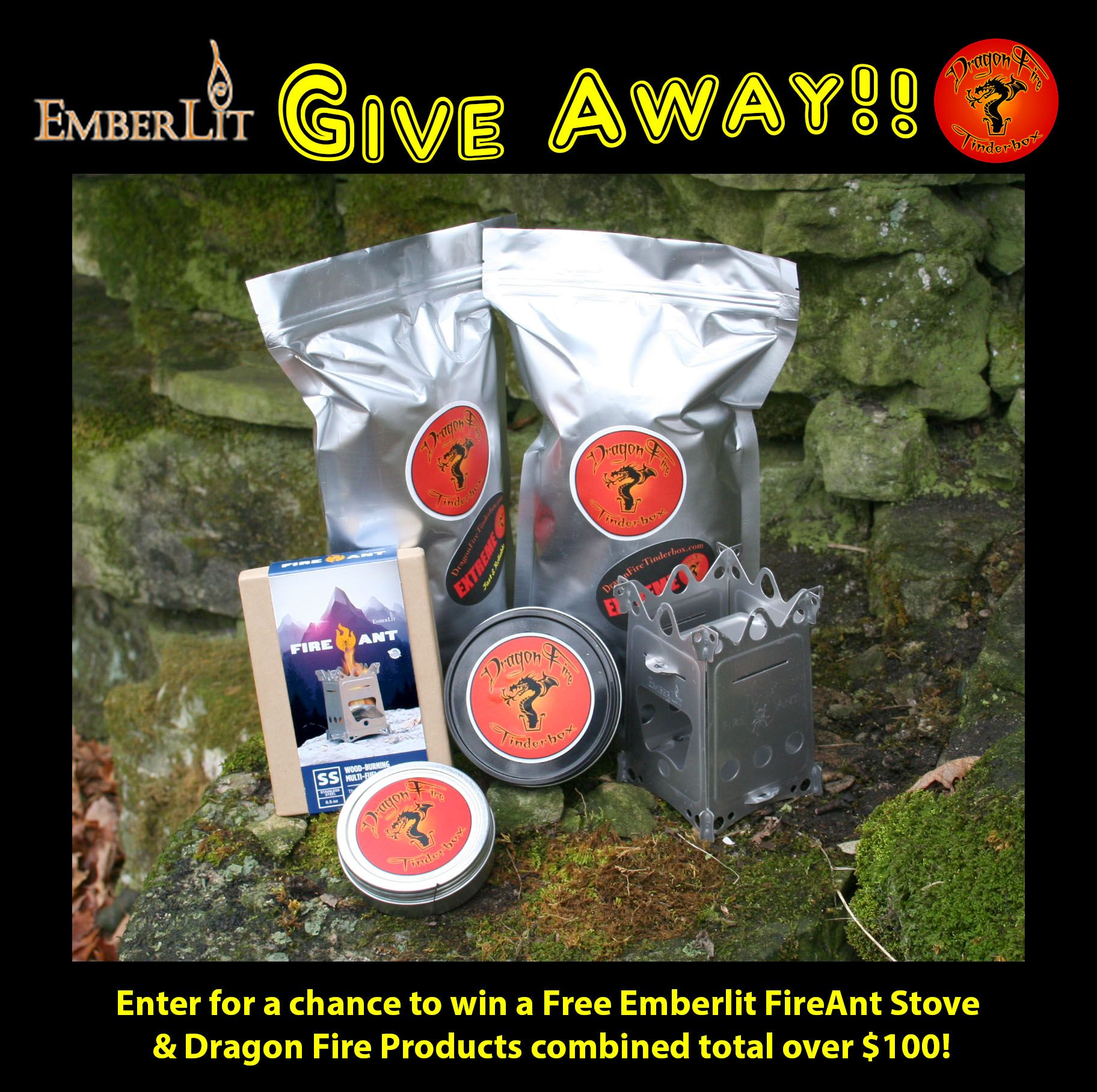 Free Giveaway: A Free Emberlit FireAnt Stove & Dragon Fire ...