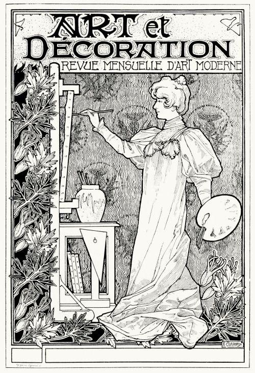A. Cossart, first prizewinner for the Art et décoration cover contest. From Art et décoration, Paris, 1897.(Source: archive.org)