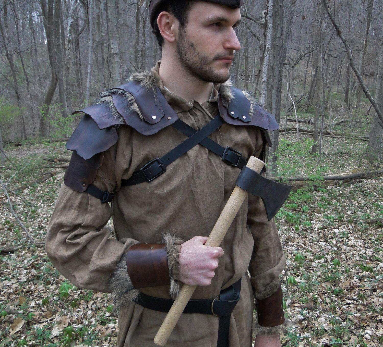 RÜSTUNGSSET mittelalterliche Leder Schulterpanzer von FolkOfTheWood
