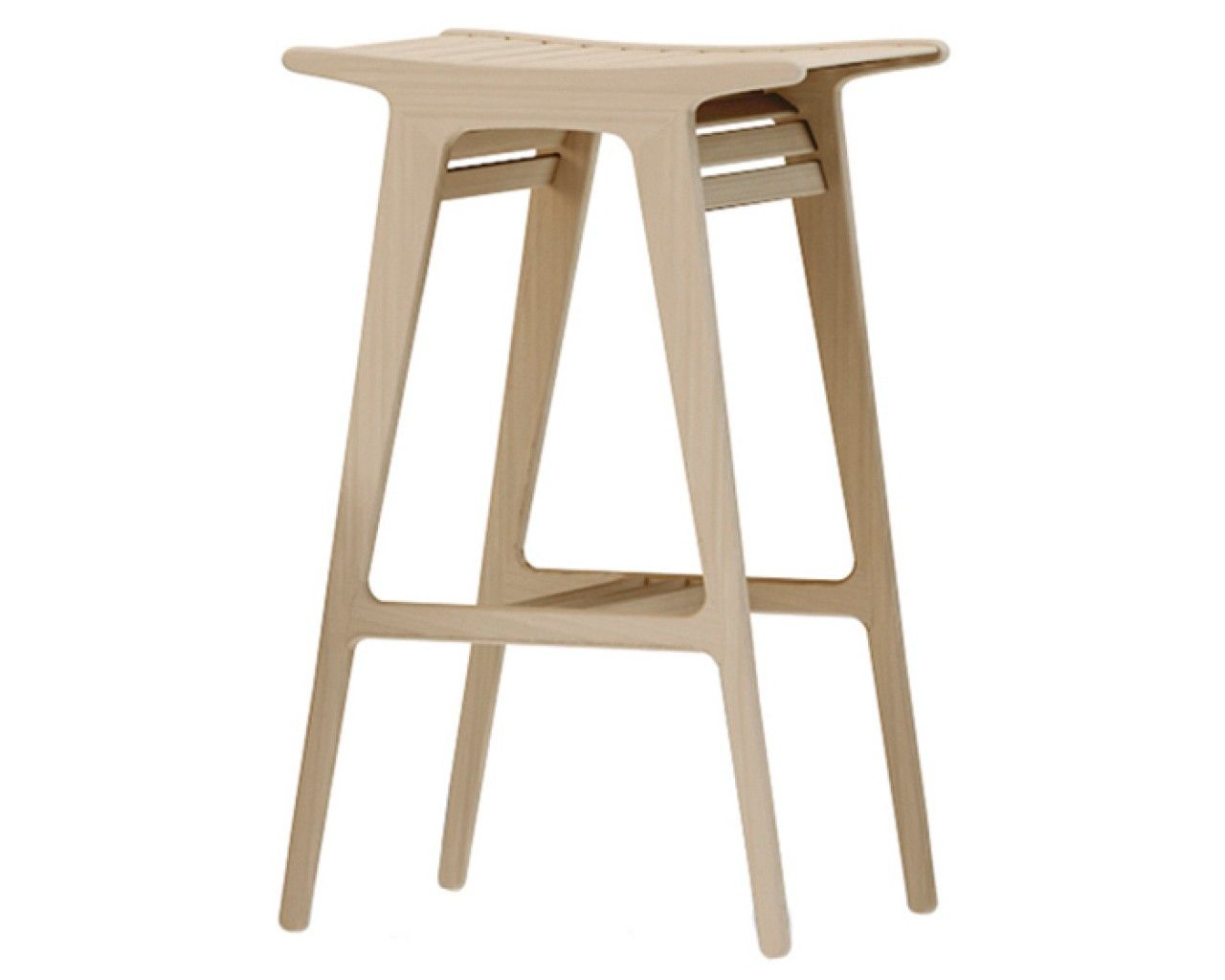 Design Barstuhl Holz Midj Jadé, 75 cm Sitzhöhe