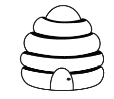 Bee Hive Coloring Pages For Kids Attention Grabbing Bee Hive Coloring Pages For Kids Photograph Bee Crafts For Kids Bee Template Bee Crafts