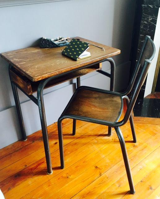 Ancienne table dcole primaireBureau dcolierPupitre et sa