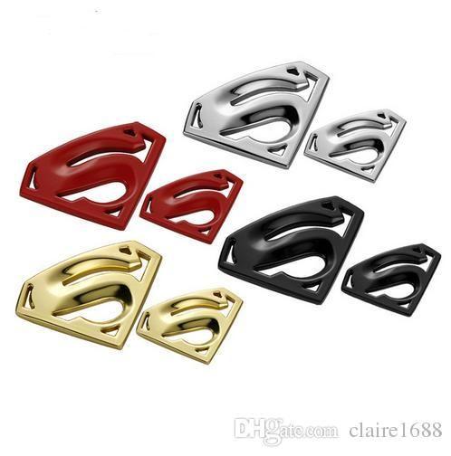 Metal 3D 3M chrome superman auto logo badge metal superman car ...