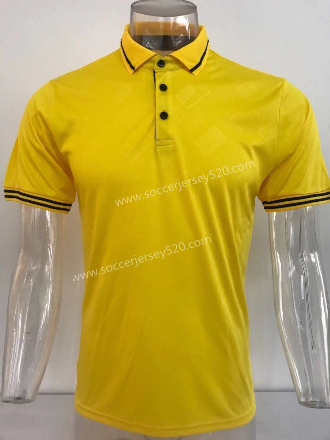 Thailand Polo Shirt Without Logo Yellow Top 13 Cheap Soccer