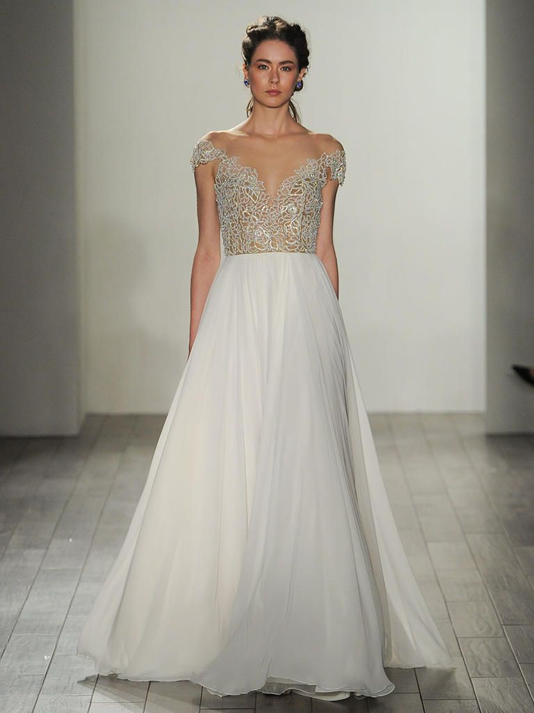 Trendy Hayley Paige Fall Shimmering Ethereal Wedding Dresses