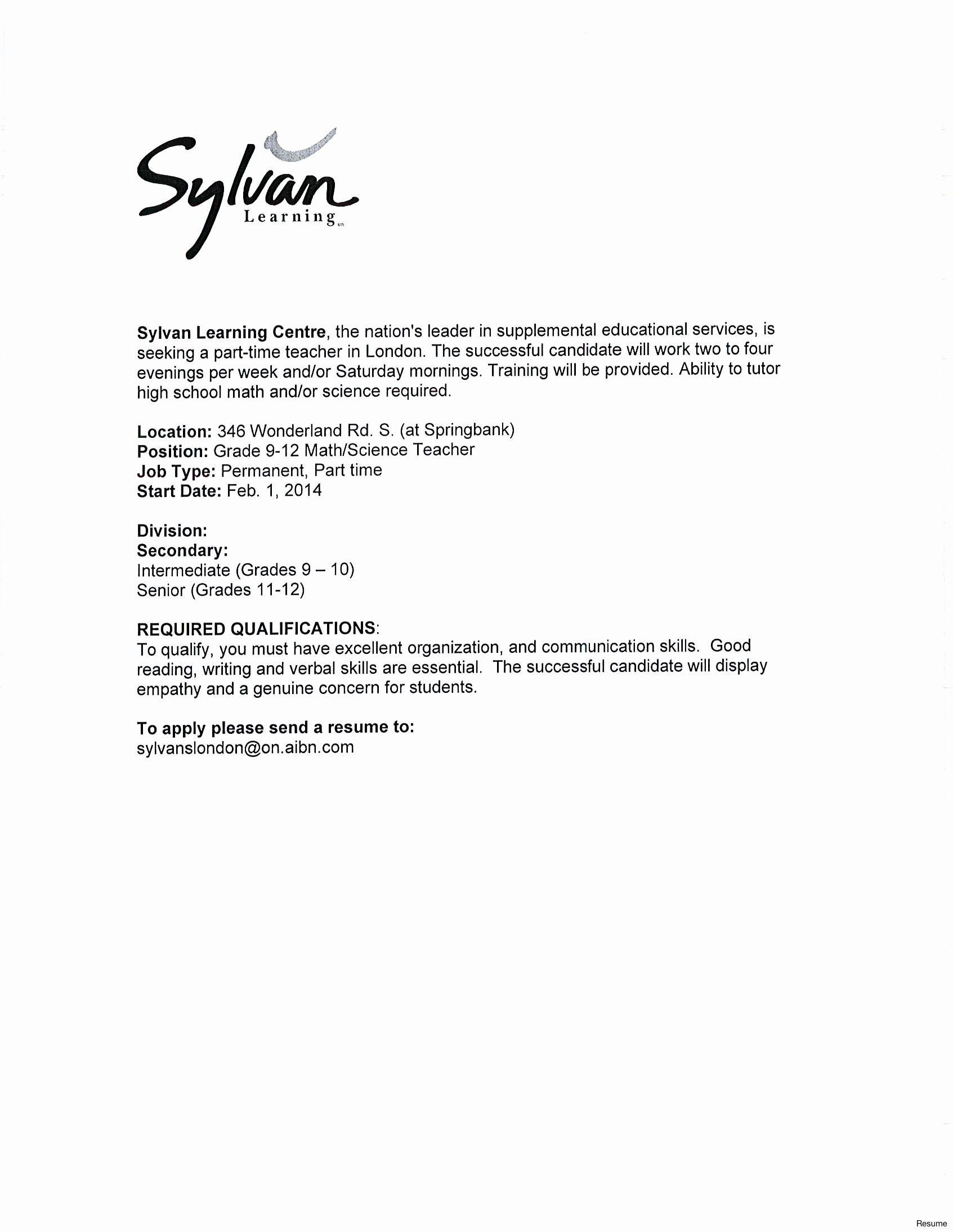 Teaching Assistant Cover Letter Sample Resume Undergraduate