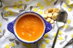 Soupe de radis noir