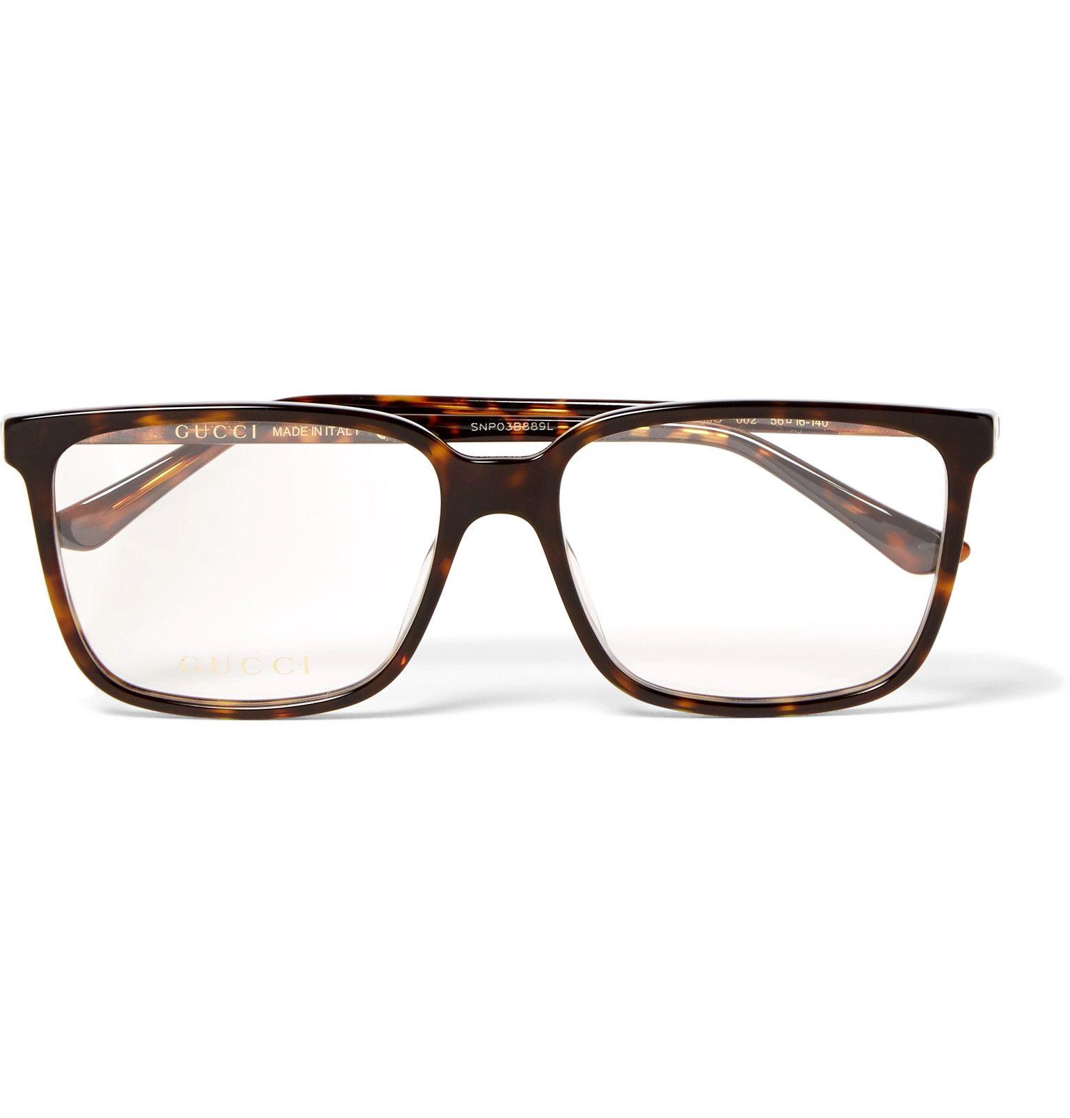 2d25303e59 Gucci - Square-Frame Tortoiseshell Acetate Optical Glasses