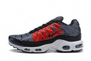 15a558ab55afc4 Nike Air Max Plus TN Striped Black White Pure Platinum AT0040 001 Mens  Running Shoes  runningshoes