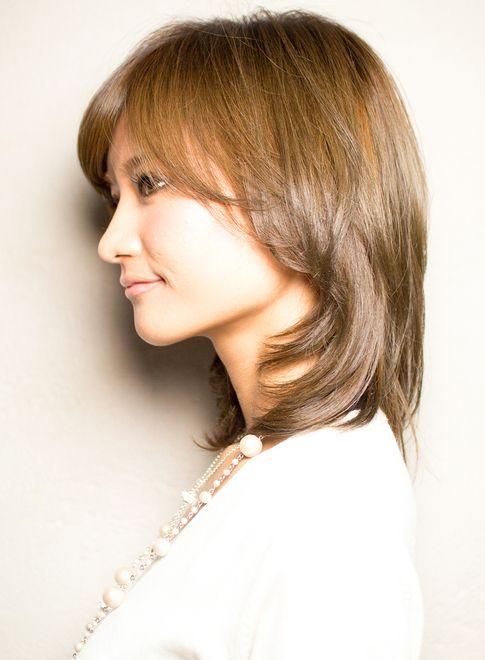 ひし形シルエットミディアム 髪型ミディアム 美髪 ヘアスタイル