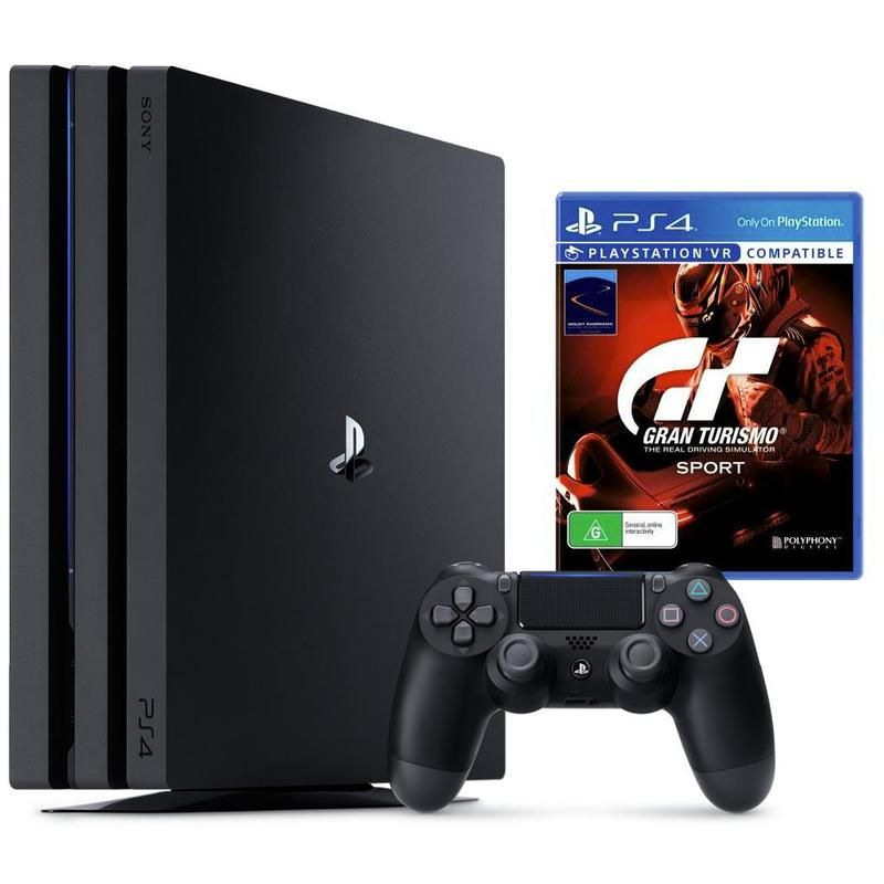 PlayStation 4 Pro 1TB Console Black + Gran Turismo Sport