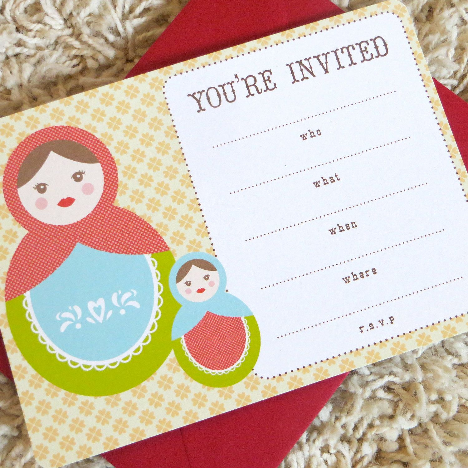 Fill in matryoshka doll invitation russian nesting doll party fill in matryoshka doll invitation russian nesting doll party invitation baby shower invitation kristyandbryce Image collections