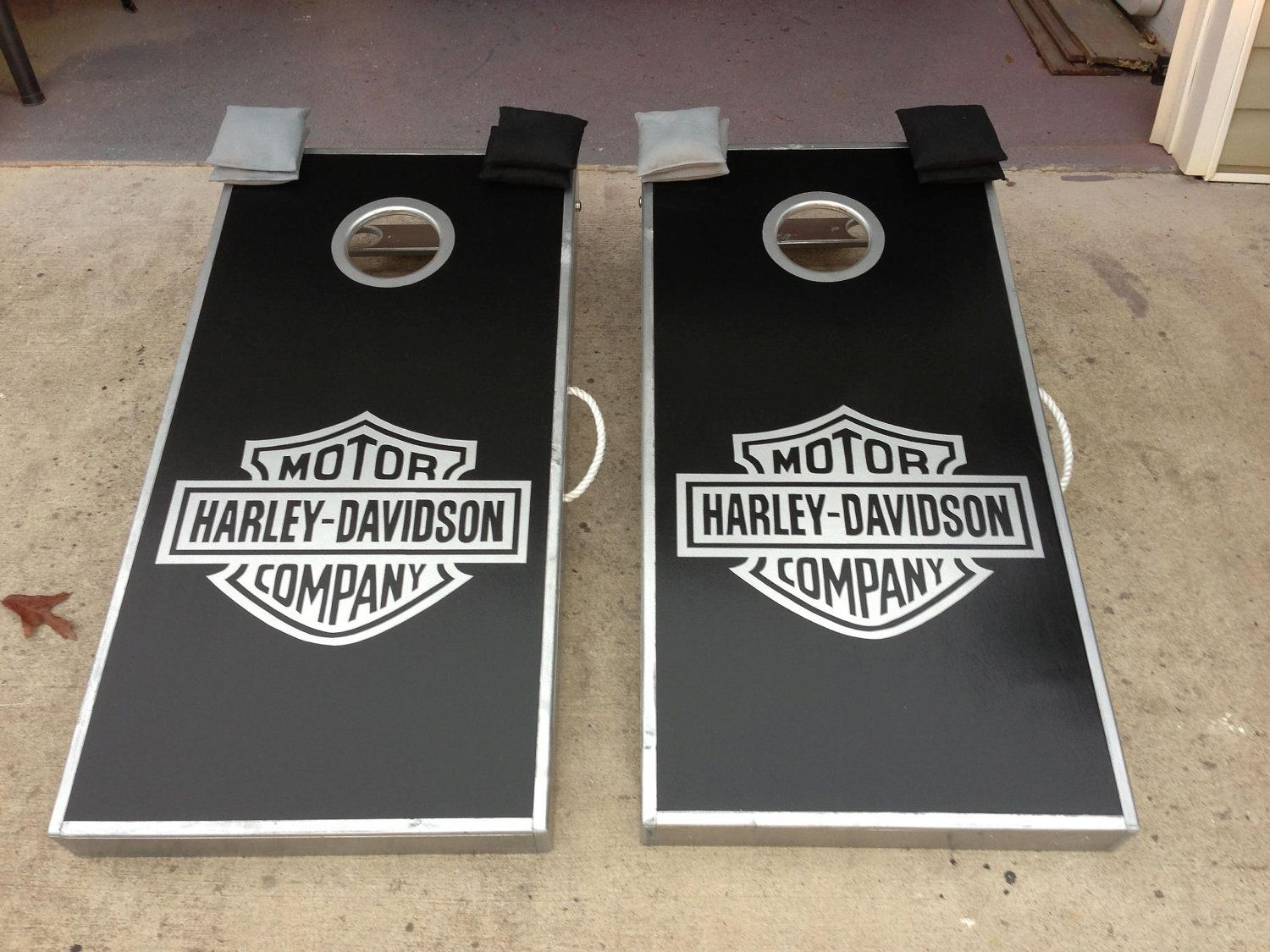full custom cornhole boards, bags, and add on features. 275.00