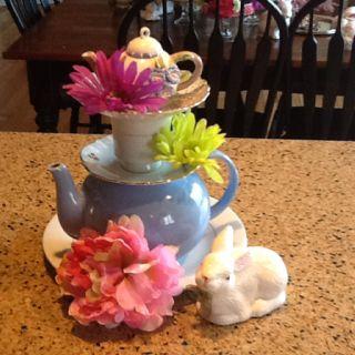 Alice tea party centerpieces