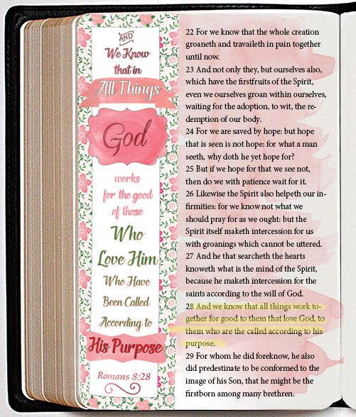Free Bible Verse Coloring Bookmark fits Bible Journal