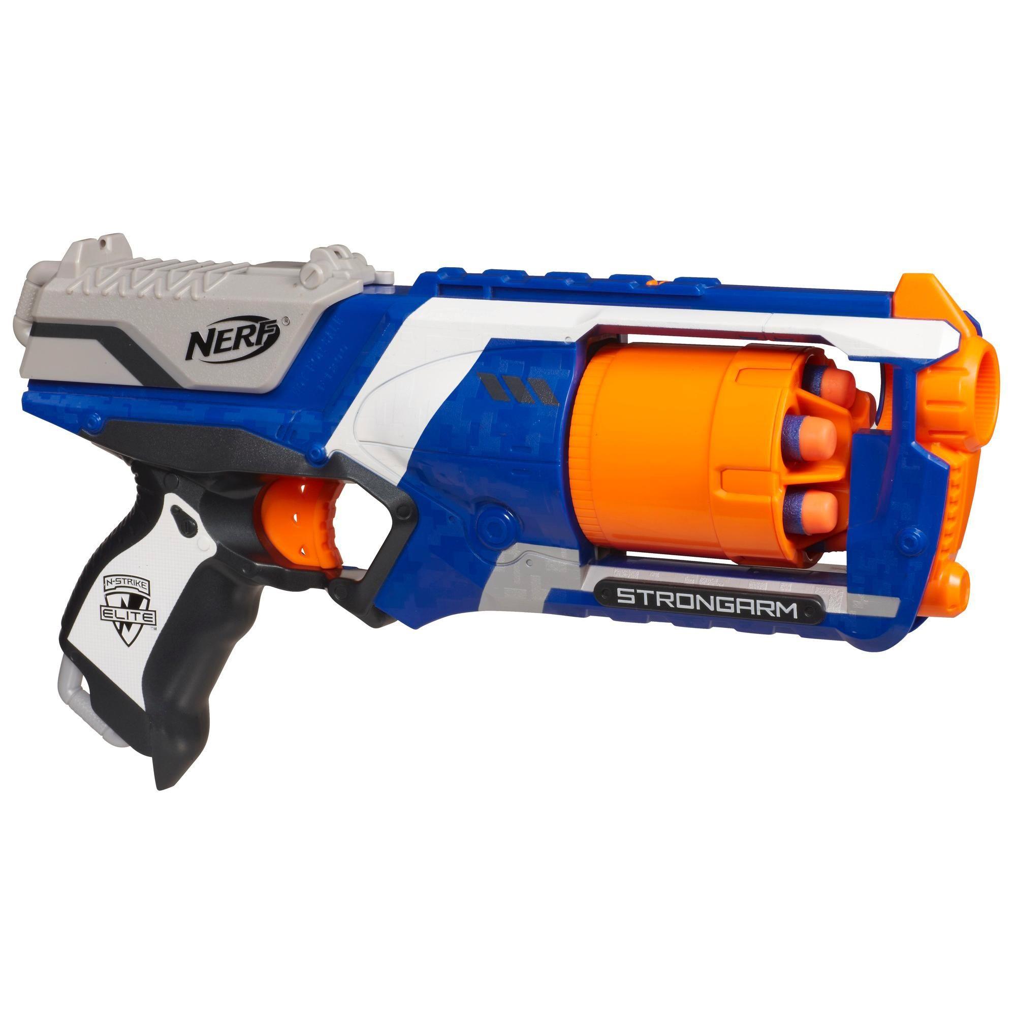 NERF N-STRIKE STRONGARM ELITE BLASTER Gun Rifle Kids Teen Adults Toy Dart Guns