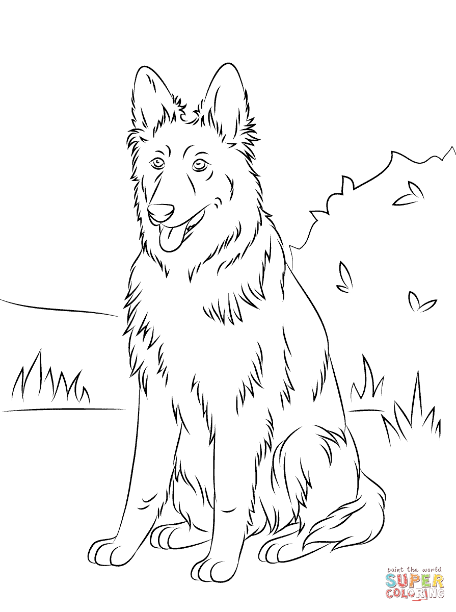 German Shepherd German Shepherd Colors Dog Coloring Book Dog Coloring Page