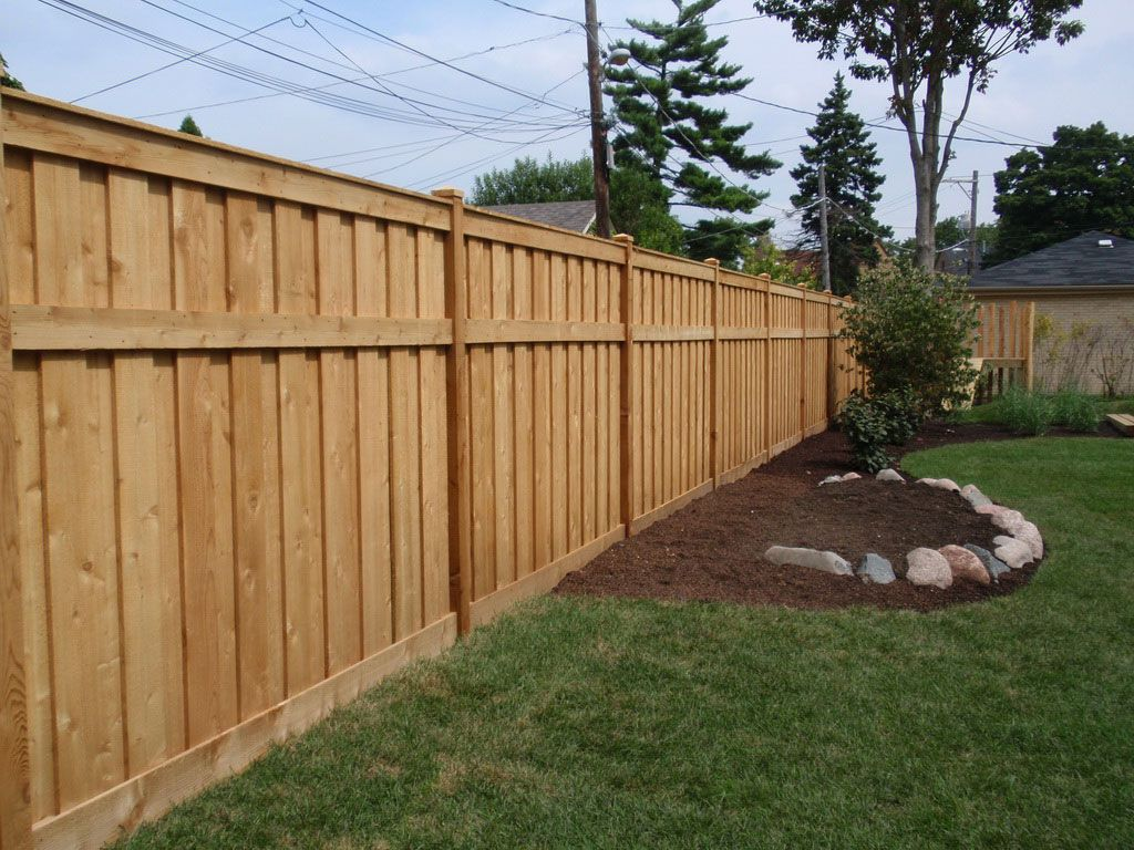 Medium Of Backyard Fence Design