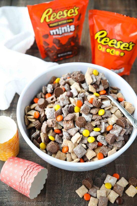 Reese's Muddy Buddies - Dessert Now, Dinner Later! #falldesserts