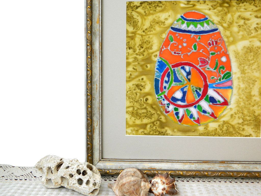 Easter Egg- Batik Art on Chiffon Fabric - Abstract Picture ...