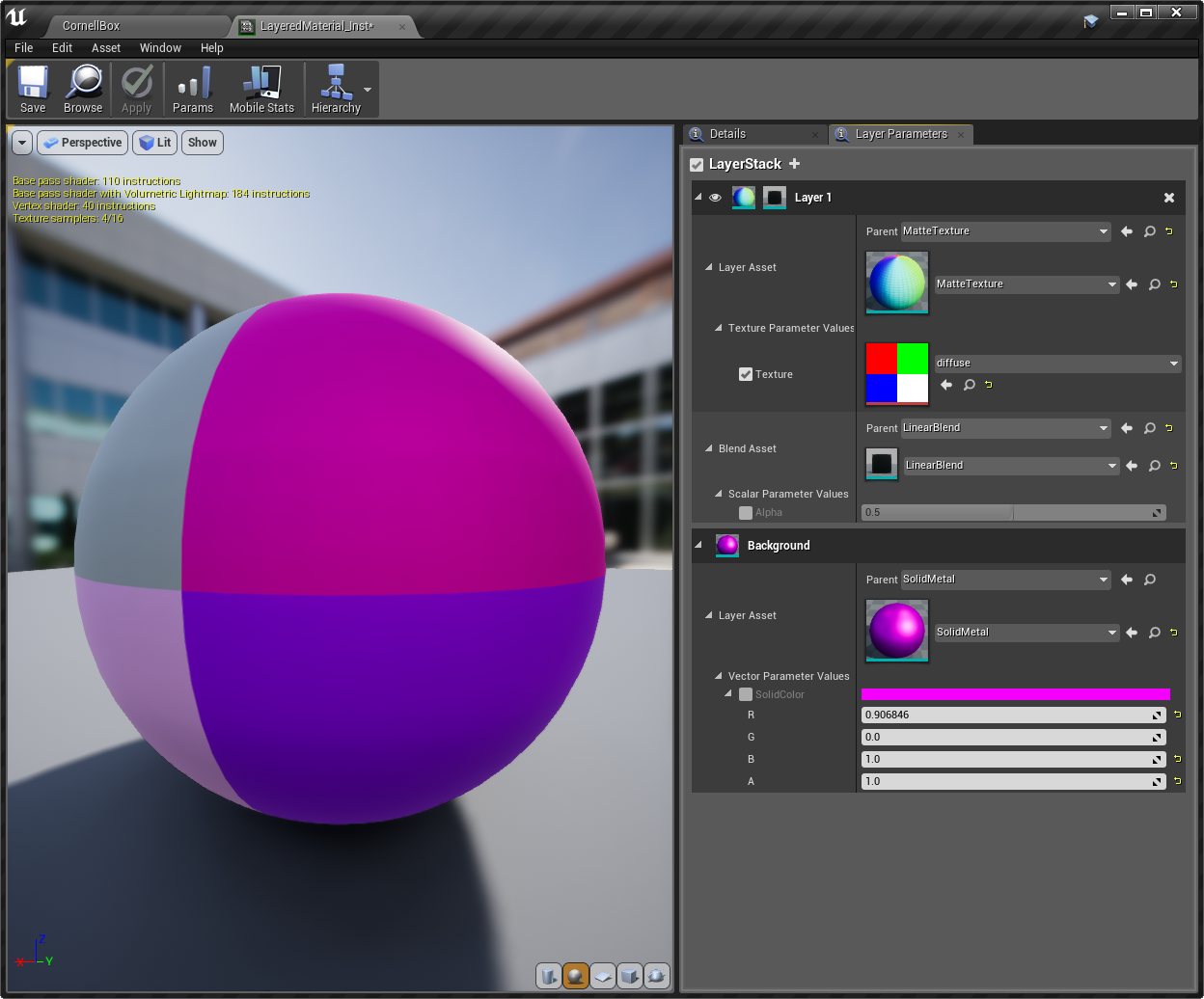 Unreal Engine 4 19 Using Material Layers