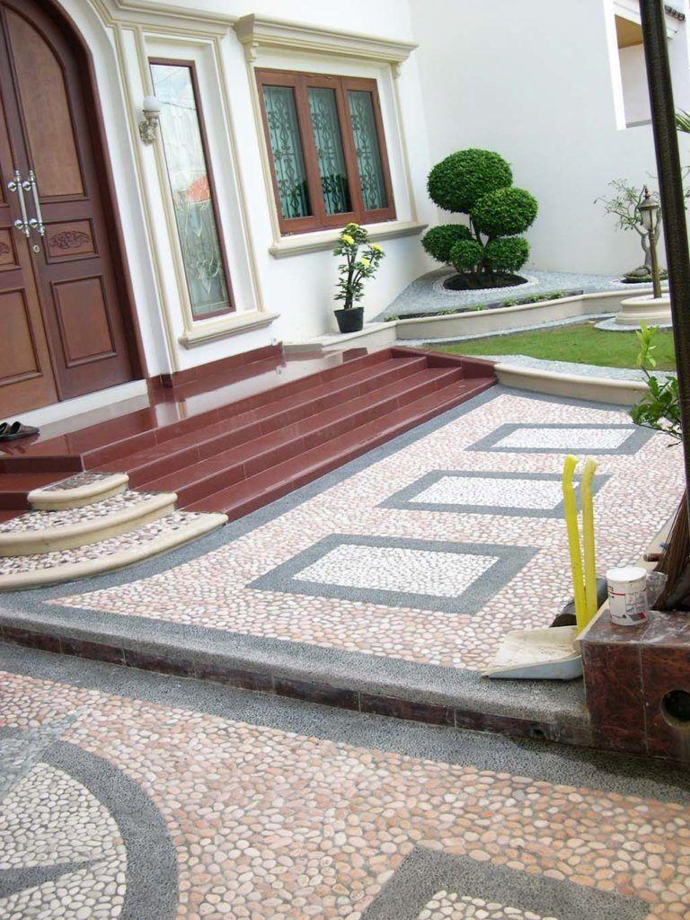 Motif Batu Sikat Untuk Carport Desain Eksterior Rumah Rumah Indah Desain Rumah