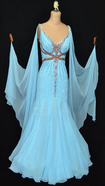 Ballroom dress on pinterest ballroom dance dresses for Best wedding dresses for dancing