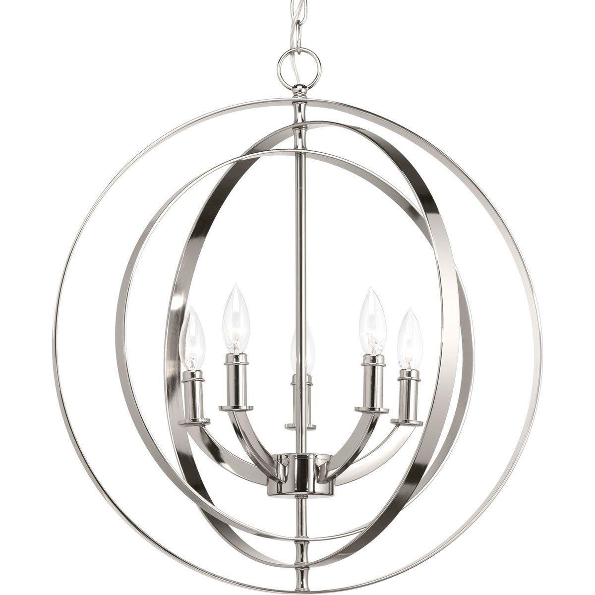 Ceiling Lights Sphere Chandelier Polished Nickel Pendant Polished Nickel Pendant Light